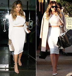 Khloe Kardashian Wears Crop Top in Kim Kardashian Lookalike Outfit Pic - Us Weekly