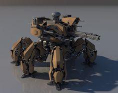 Annihilator Battle mech MK II WIP. by *Avitus12 on deviantART