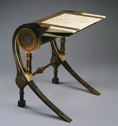 Desk, ca. 1902  Carlo Bugatti (Italian, 1856–1940)  Walnut, copper, pewter, vellum