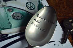 Pretty Little Silver - 'Dedicated And Devoted' Father's Day Dessert Spoon £12 www.prettylittlesilver.co.uk