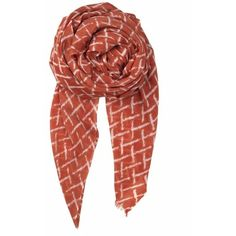 Spiced Coral Kennedia Scarf ($74) ❤ liked on Polyvore featuring accessories, scarves and coral scarves