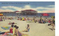 Old Orchard Beach, Maine.  Nice postcard from United States. Contact us for price.