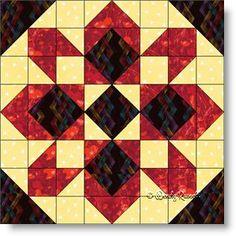 STARGLOW quilt block pattern