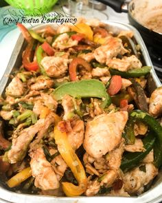 Oyster sauce chicken and veggies