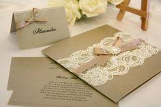 Vintage Lace Wedding Invitation Card
