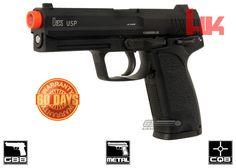 H&K Full Metal USP NS2 GBB Airsoft Gun By KWA