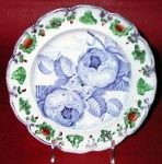 BLUE ROSE DOUBLE PRINT CHILD'S PLATE 1830