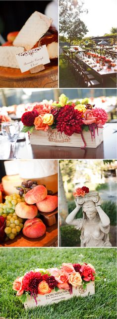 beautiful setting for a wine themed party