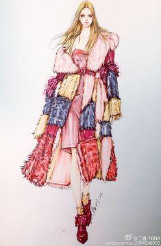 丁香-NINA的微博_微博 #fashionsketchbook,