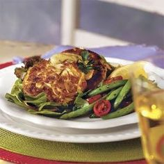 Crab Cakes With Lemon Rémoulade Sauce from Southern Living magazine
