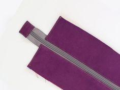 Jak uszyć panel z zamkiem, wszywanie zamka do torebki Sewing Basics, Card Holder, Wallet, Purses, Bags, Backpacks, Pocket Wallet, Handbags, Handbags