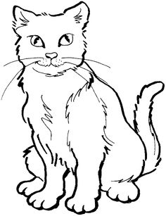 Cat coloring page for daisy animal flip books Embroidery