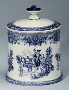 Blue porcelain  jar