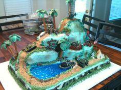 Birthday Cakes For Men, Birthday Cake Fondant, Cakes For Boys, Boy Cakes, Army Themed Birthday, Army Birthday Parties, Army's Birthday, Birthday Ideas, Birthday Cake Illustration