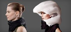 A Fashionable, Inflatable Bike Helmet Collar? Yes, You Read That Right.