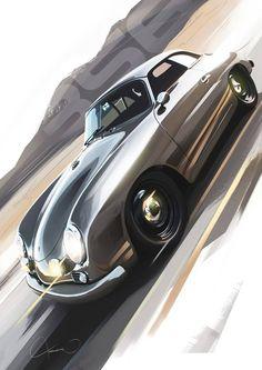 Motivezine Classics: Porsche 356 digital art by Kamil Podolak Explore future automotive projects on Vintage Porsche, Vintage Cars, Poster S, Car Posters, Carros Retro, Car Design Sketch, Car Sketch, Sketch Art, Porsche 356 Speedster