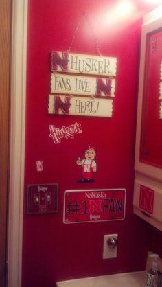 My Nebraska Huskers bathroom...... by Day