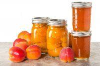Jars of homemade apricot jam or preserves Marmalade, Preserves, Pesto, Mason Jars, Homemade, Exposed Brick, Industrial, Preserve, Mason Jar