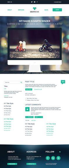 How To Create Flat WordPress PSD Theme Like a Pro