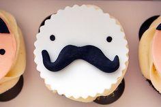 Versiering mustache cupcake