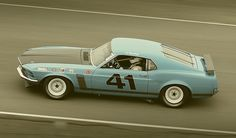 1970 Ford Mustang Boss 302 Trans Am race car by autoidiodyssey,