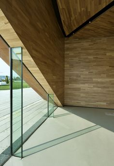 wood clad interior walls
