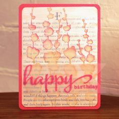 Embossing paste and distress ink