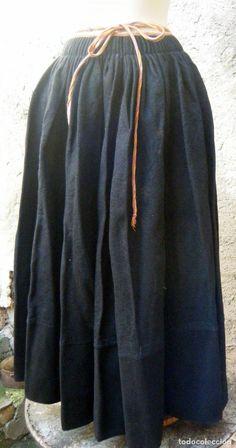 Antigüedades: Falda saya manteo Indumentaria tradicional popular S.XIX - Foto 7 - 70500665