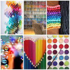 By Tanis Fiber Arts Rainbow Theme, Rainbow Colors, Collages, Tanis Fiber Arts, Nature Collage, Love Aesthetics, Mood Colors, Color Collage, Color Studies