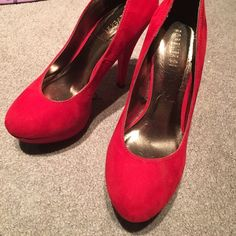 Final SaleNEW sky high red heels! Brand new never worn! Forever 21 Shoes Heels