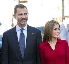 Los Reyes de España a su llegada al palacio de Noordeinde