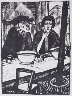 Gent by Erich Heckel   Lithograph, 1916.