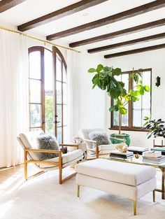 How to Decorate With Large Indoor Plants in Every Home via @MyDomaine