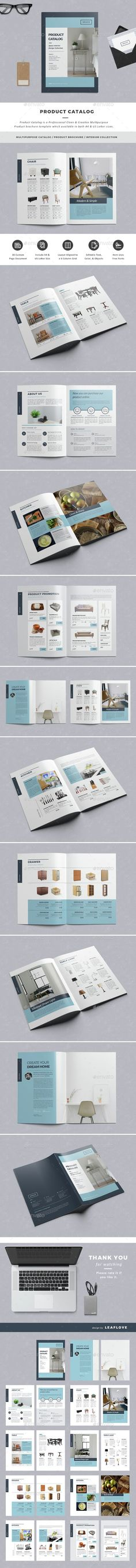 Product Catalog by LeafLove Product Catalog / Clean & Creative Multipurpose Product Brochure Template. This layout is suitable for any project purpose. Web Design, Layout Design, Print Design, Creative Design, Booklet Layout, Booklet Design, Product Catalog Template, Product Catalog Design, Product Catalogue