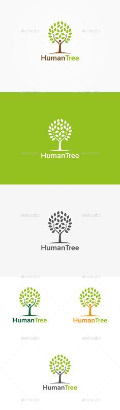 Human Tree Logo — Vector EPS #farmer #trees • Available here → https://graphicriver.net/item/human-tree-logo/9959699?ref=pxcr