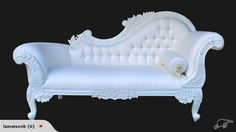 ~ Antique French Style Chaise Lounge White ~ | Trade Me