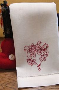 Picture of Freebie - Flower Filled Heart Guest Towel