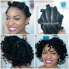 Twist-Bantu Knot Out! I've got to do this!!! #Natural