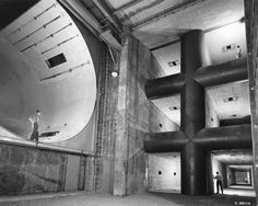 10x10 Supersonic Wind Tunnel at NASA Glenn Research Center 1950: This photo shows the acoustic housing of the original Supersonic Wind Tunnel. The housing was added because of complaints from neighbors about the
