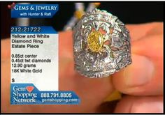 This is an unusual mount from our estate jewelry collection with both yellow and white diamonds in the ring setting.