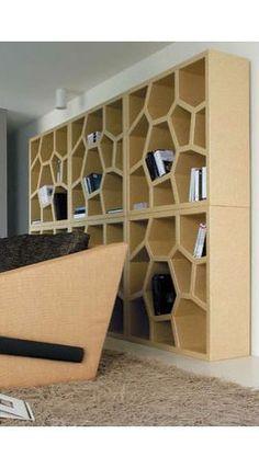 Cardboard Bookshelves / Bibliothèque en carton