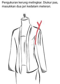 POLA KUTU BARU Pola Kebaya Kutubaru, Dress Patterns, Sewing Patterns, Embroidery Bags, Sewing Tutorials, Womens Fashion, Design, Style, Education