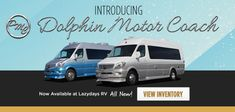 Did you know that Lazydays carries Dolphin Motor Coach Vans. Class B Motorhomes, Motorhomes For Sale, Travel Trailers For Sale, Used Rvs, Rv Life, Dolphins, Camper, Vans, Campervans For Sale