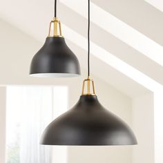 Shop Maddox Black Bell Pendant with Brass Socket. Our Maddox collection mixes and matches finishes and features, creating the perfect combination for your home. Kitchen Pendant Lighting, Kitchen Pendants, Chandelier Pendant Lights, Pendant Lamp, Crate And Barrel, Kitchen Hood Design, Black Pendant Light, Black Pendants, Gold Kitchen