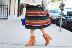 Cozy Heritage Patterns for Fall The countdown to the holiday season has officially begun with heritage patterns for everyone. (yeeee!!) I found the cutest striped midi skirt from..
