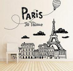 Wall Sticker JE TAIME by Sticky!!! Wall Sticker, City Life, Home Decor, Decoration Home, Room Decor, Interior Decorating