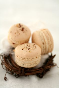 Turron Macarons and some Christmas Memories :: Cannelle et Vanille.  These look amazing.  Love French Macarons!