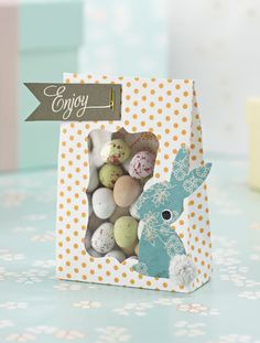 Free Gift Paper Bag Easter bunnies Template