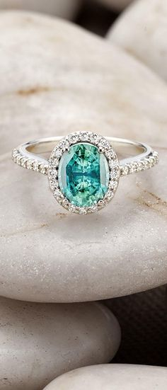 Berta Bridal Wedding Dress Meets Classic Aqua and Gold - engagement ring idea; Brilliant Earth