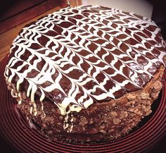16th birthday chocaholic cake with chocolate ganache topping and brownie base #baking